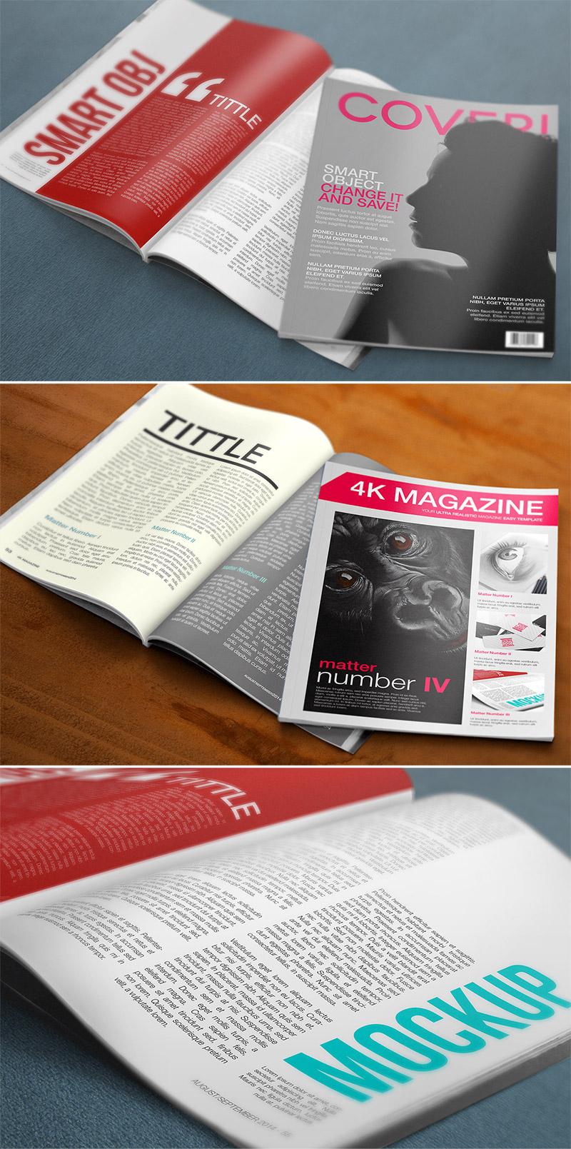 4k magazine mockup