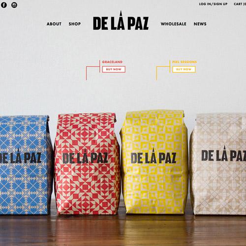 minimalist coffee website