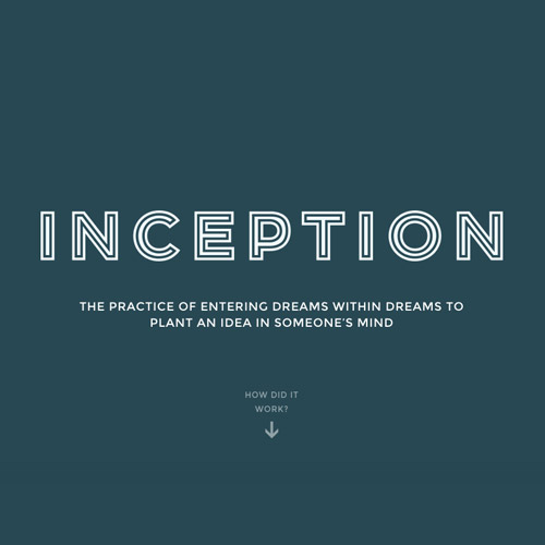 inception storytelling website
