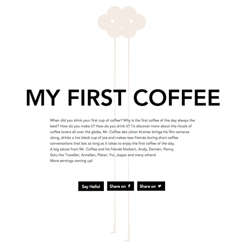 my first coffee website