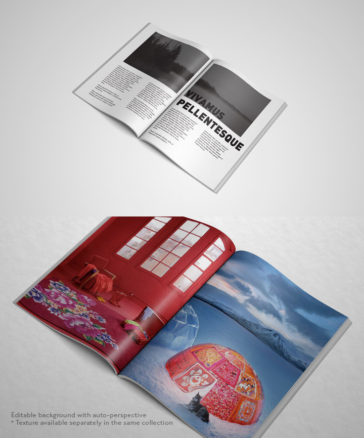 open magazine mock up