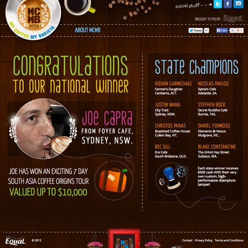 barista coffee website