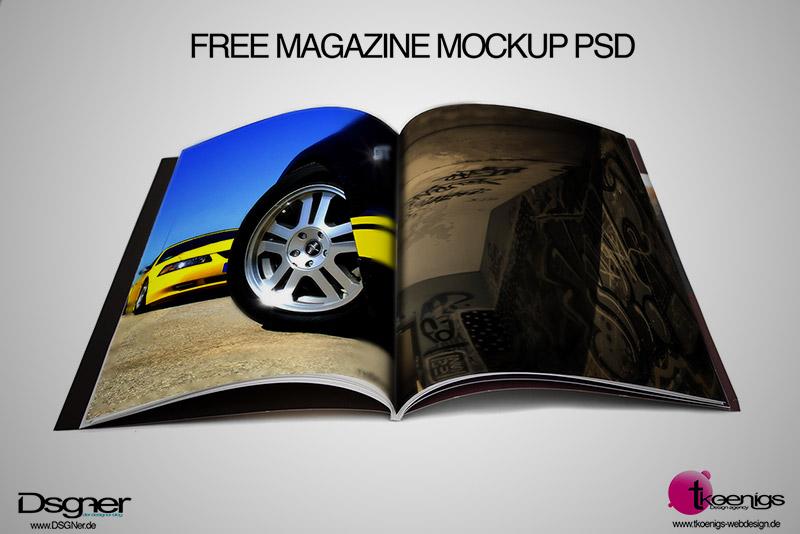 free psd mockup magazine