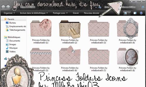princess vintage folders