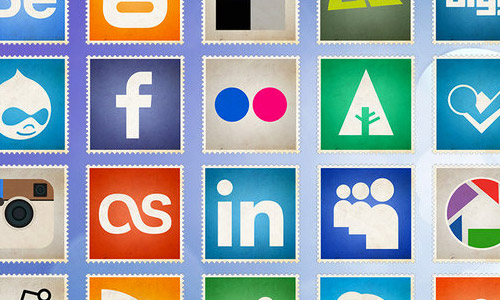 free flat vintage icons