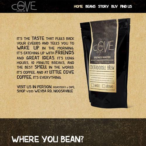 cove coffee web desgin