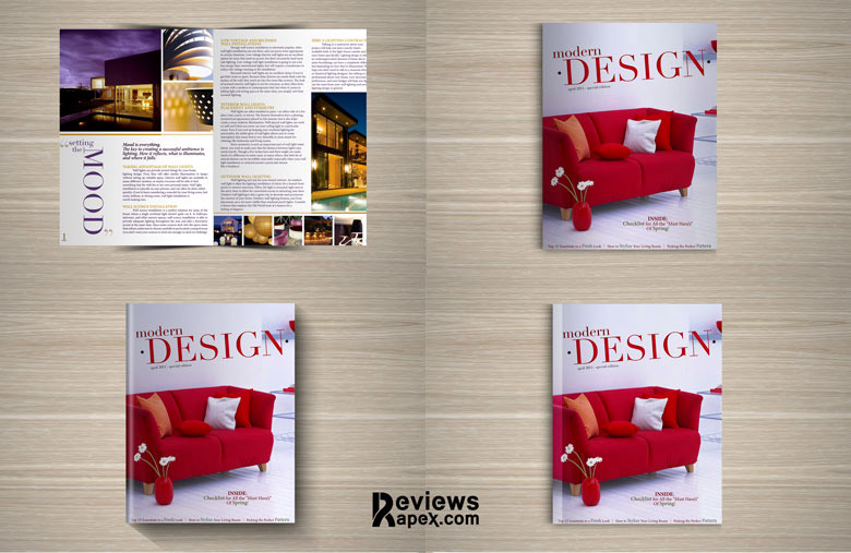 fabulous magazine mockup design