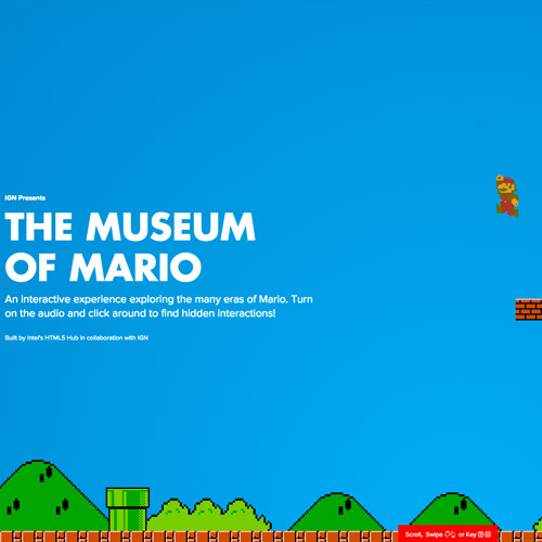 Mario storytelling website design