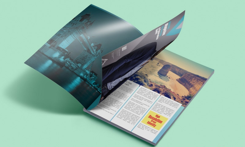 free customizable magazine mockup
