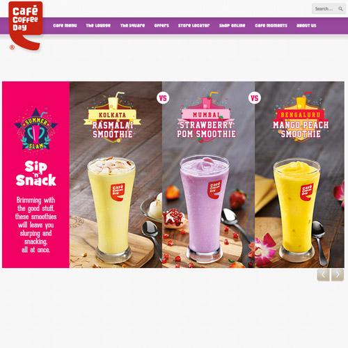 cafe coffee web design