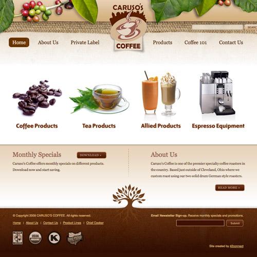 Caruso coffee website