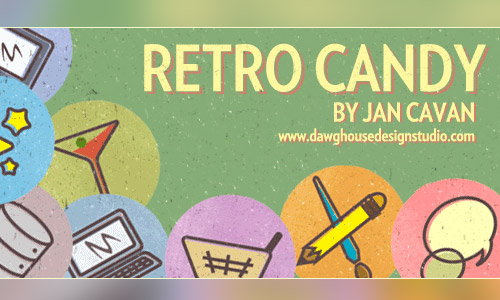 retro candy icons