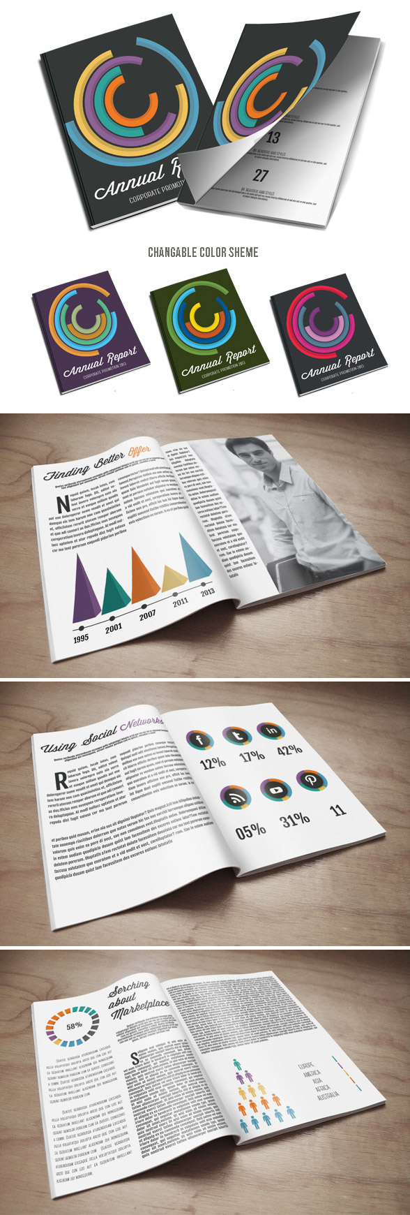 inforgraphic annual report brochure