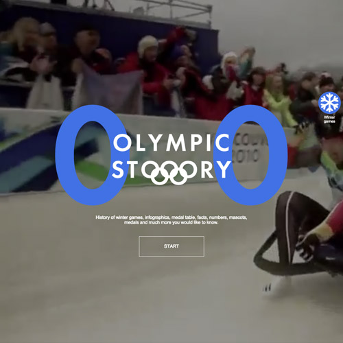 Olympic storytelling web design