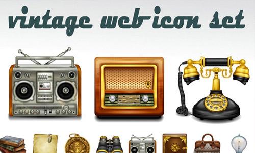 retro vintage icons