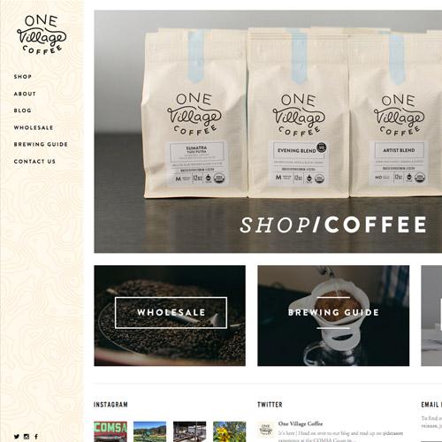 one village coffee website