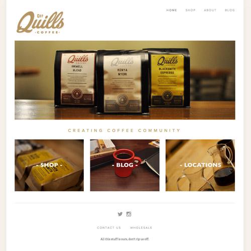 quills coffee website