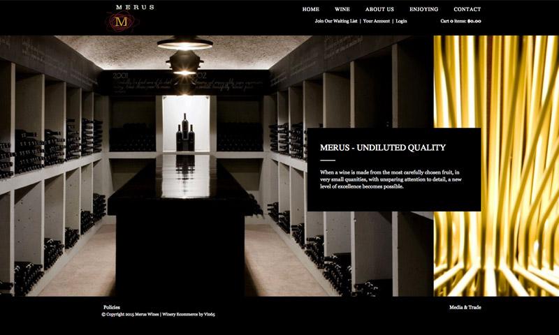 merus wine website
