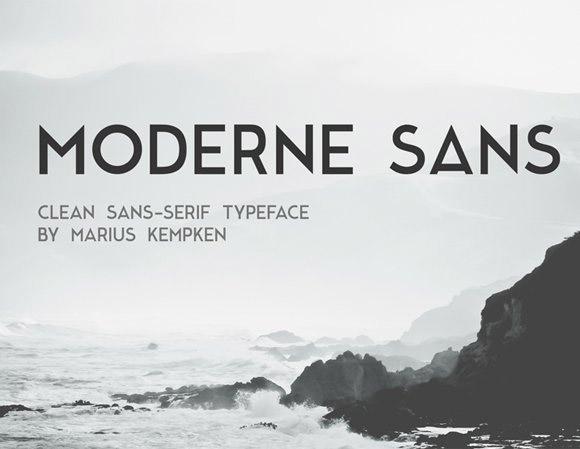 modern sans caps