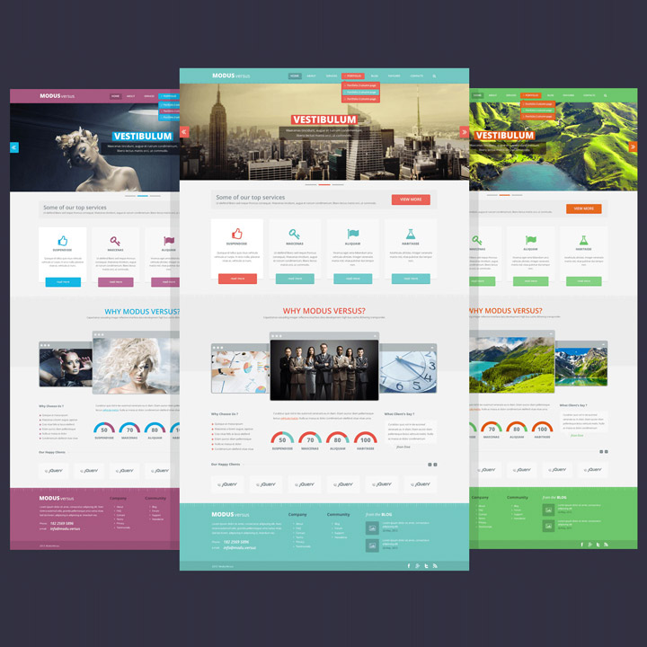 Free PSD Website Templates for Web Designers and Developers | Naldz ...