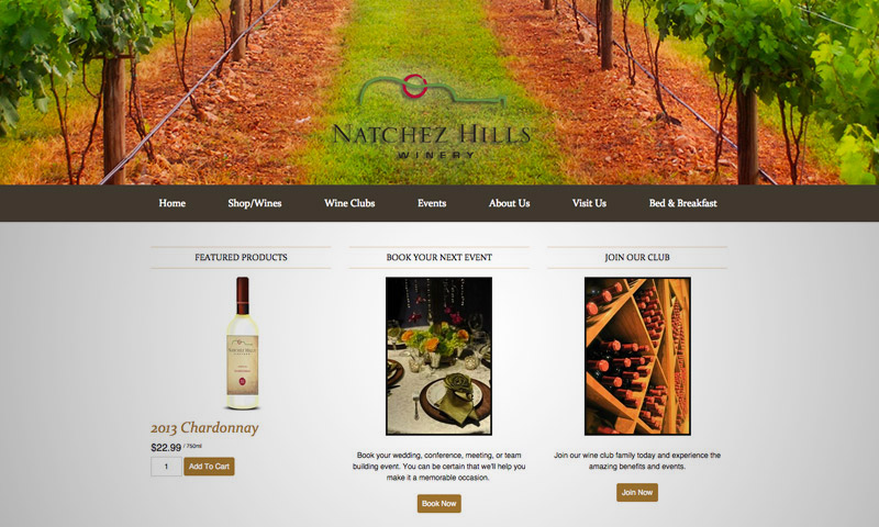wines web design