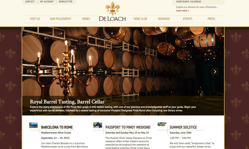 vineyards site design