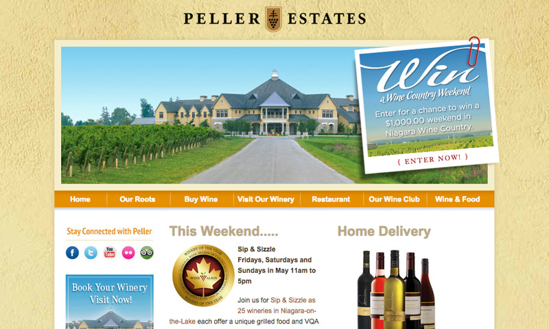 winery example website