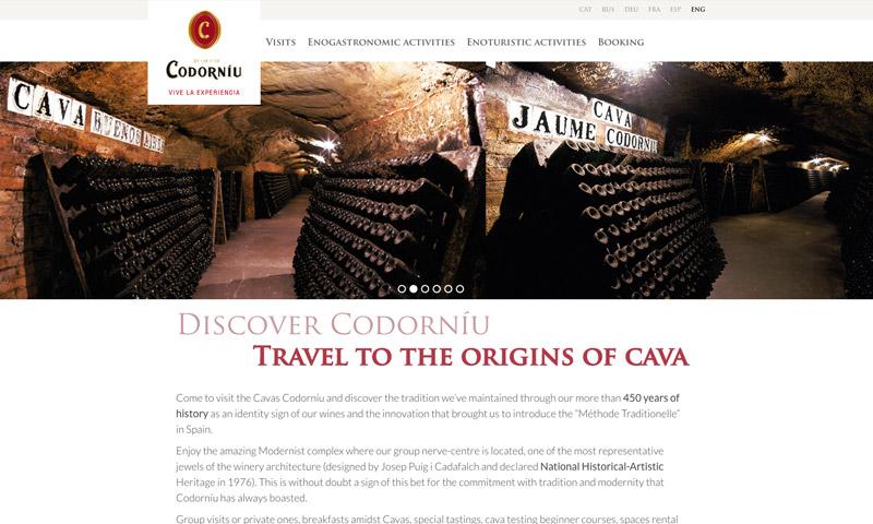 wines web design