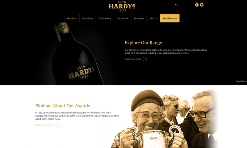 wine web design