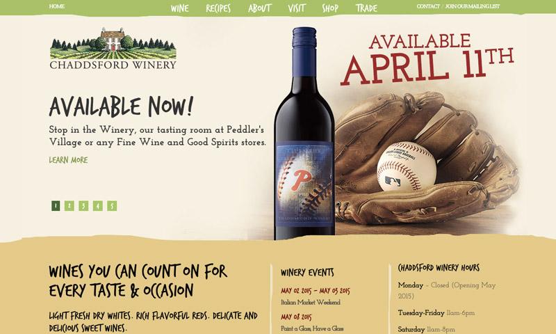 winery sample website