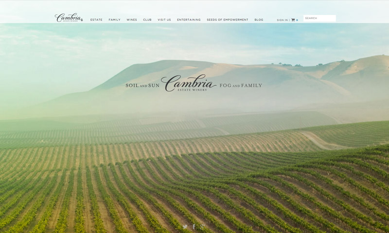 estate wine website