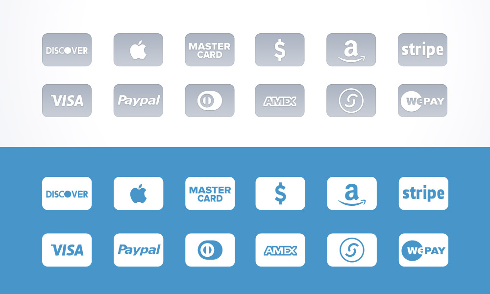 gray credit icons