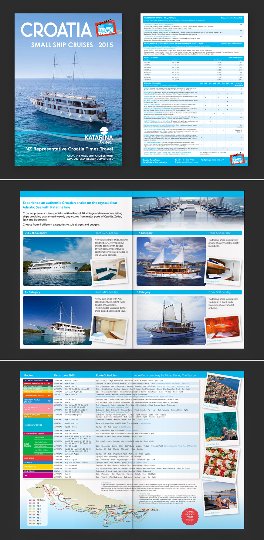 travel cruise brochure
