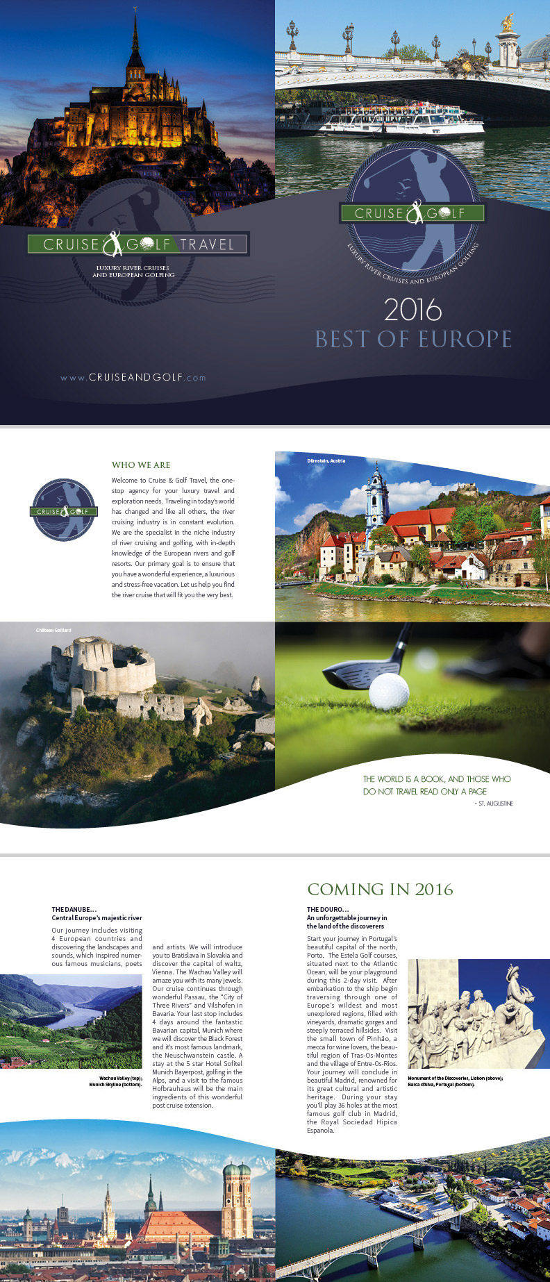 golf brochure design