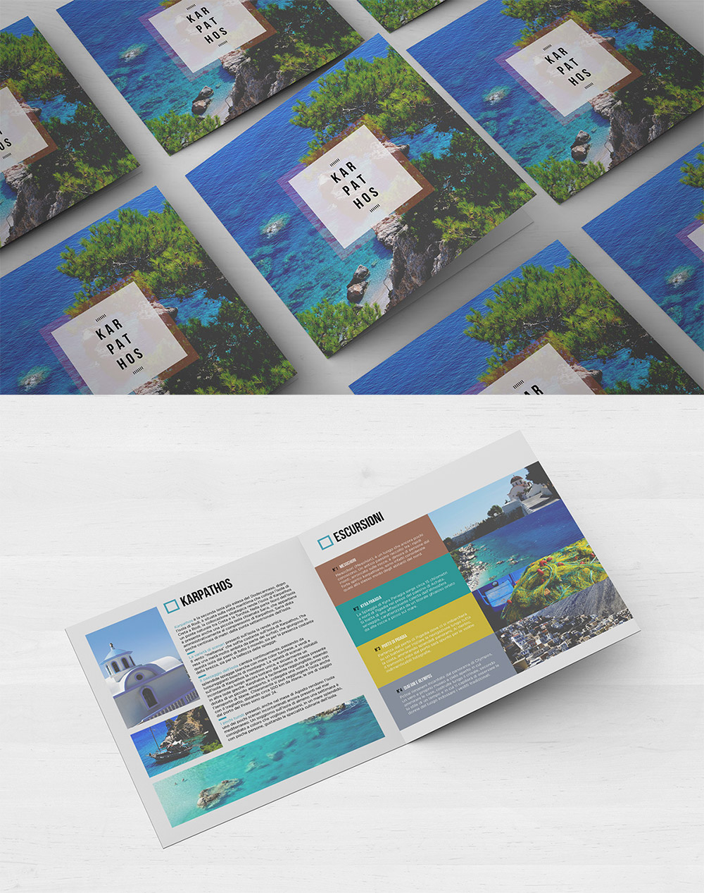 bifold travel brochure
