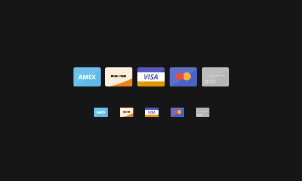 flat design cards