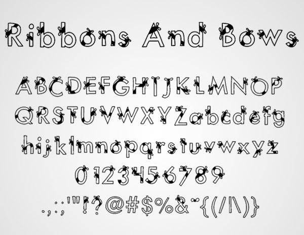 bows fonts