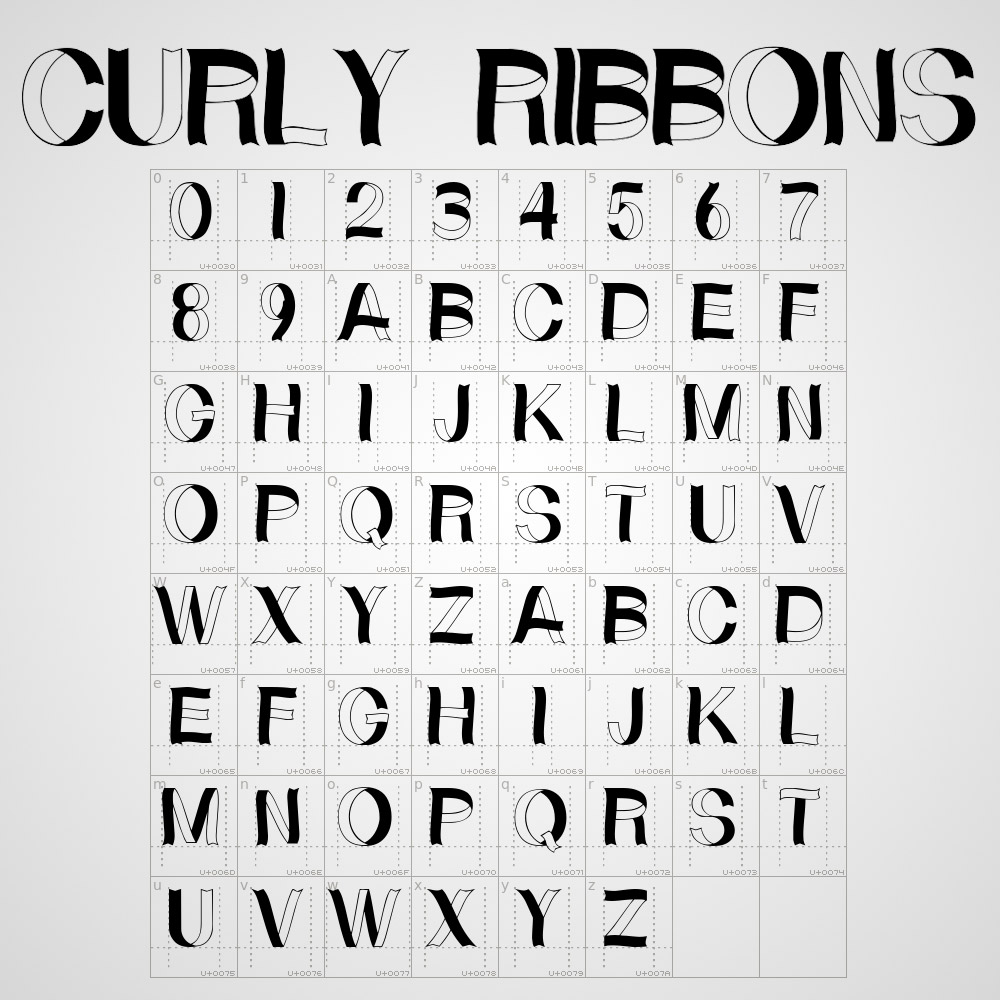 all caps font