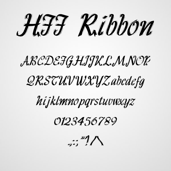 ribbon fonts design