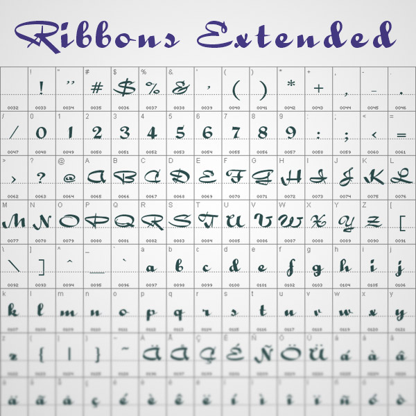 ribbons fonts freebie