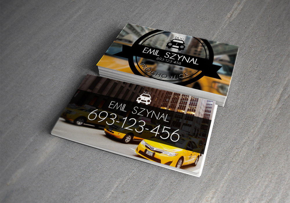 taxi business card