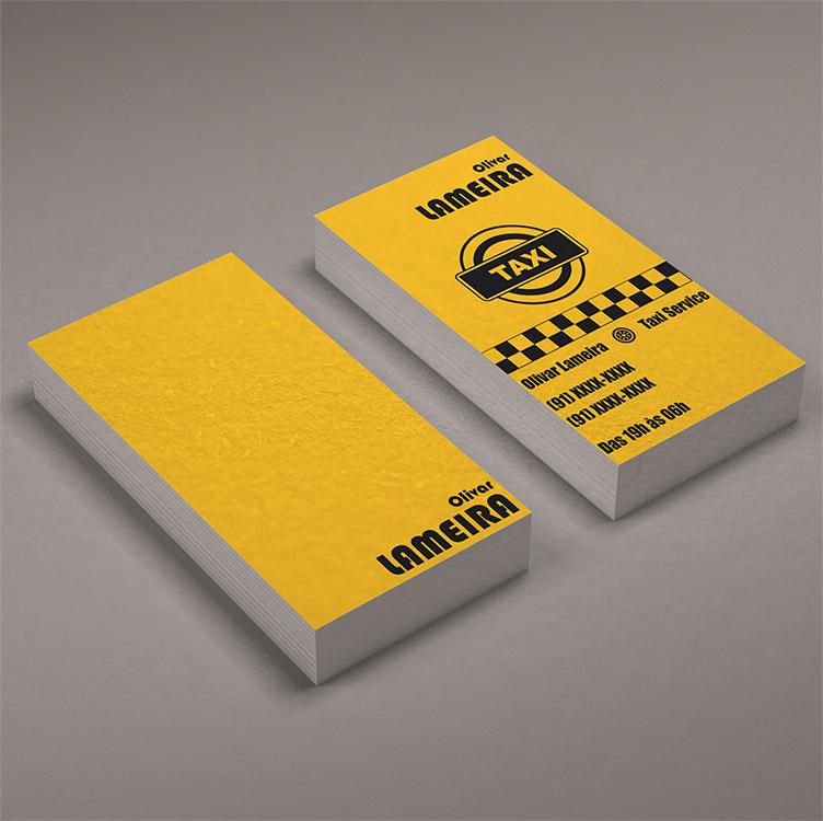 taxi card design