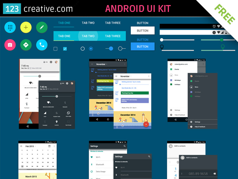15 Free Android UI Kits For Mobile App Designers | Naldz Graphics