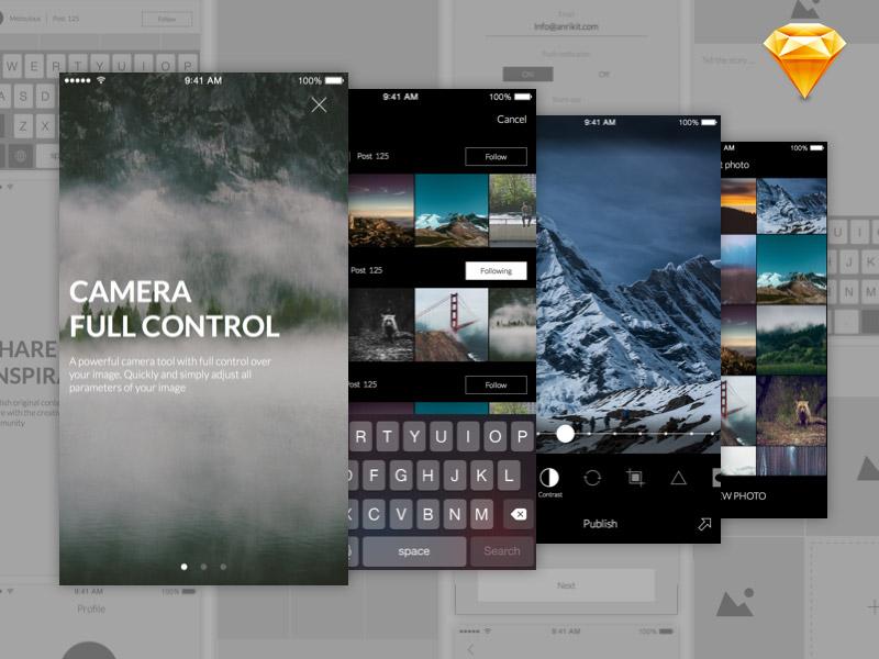 photo editor UI kit
