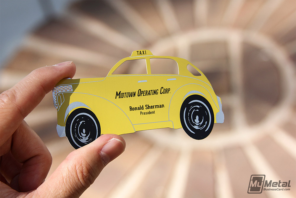 unique taxi business card