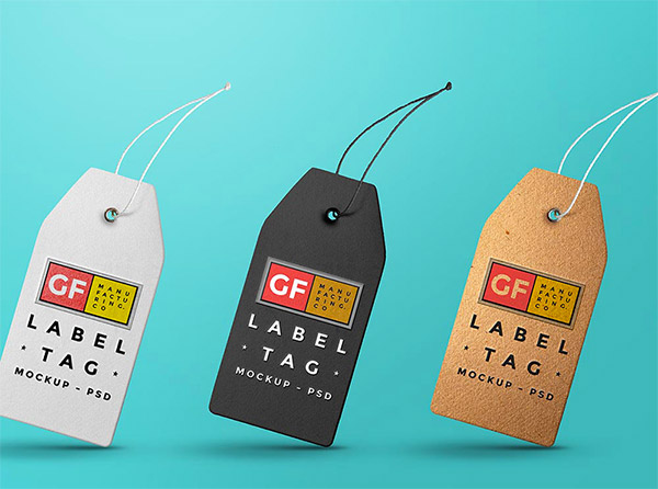 label mockup psd