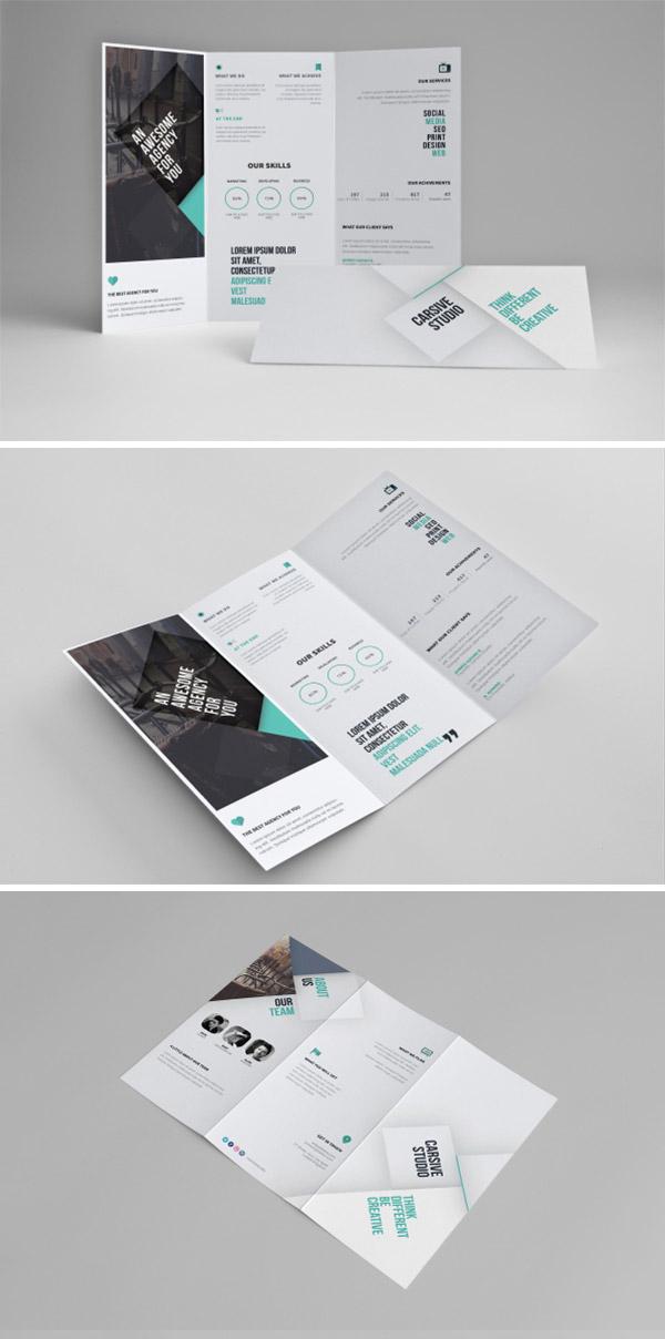 clean tri-fold template