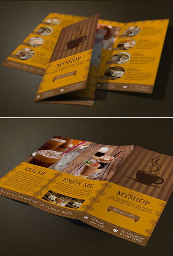 Refreshing Coffee Shop Brochure Designs  Naldz Graphics