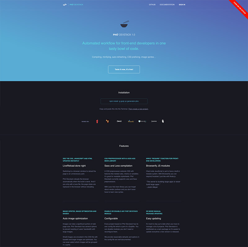 vertical gradient theme