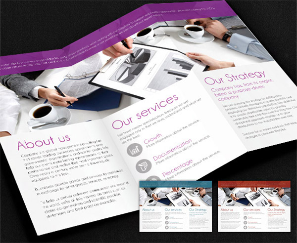 business trifold design